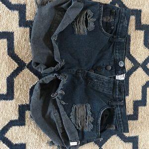 One Teaspoon size 29 distressed jean shorts
